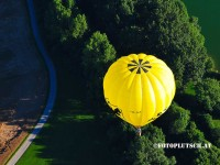 Luftbild ballon fahrt wieselburg an der erlauf ballonwirt aigner