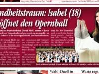 Pressebild Tageszeitung Heute Opernball 2016 höfler isaeel