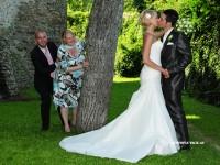 Brautpaarbild in der wachau bei krems an der donau hubschrauberflug