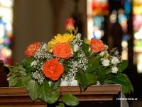 Brautstraus in der Kirche bei der Hochzeit imn Niederösterreich