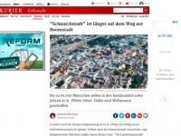 Flugaufnahme St Pölten 30 Jahre landeshauptstadt Nö