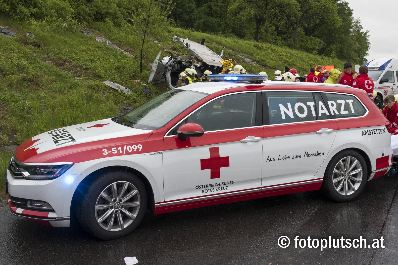 Schwerer Unfall auf der A1 bei Ybbs